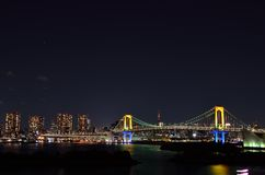 Night view of the Rainbow Bridge. Stock Photography