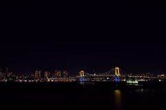 Night view of the Rainbow Bridge. Stock Images