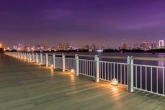 Night View of Rainbow Bridge Stock Photos
