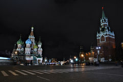 Night view of the Red Square Stock Image
