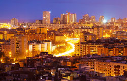 Night view of residence district Stock Images