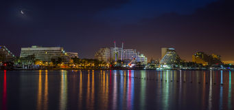 Night view on resort hotels in Eilat, Israel. Eilat is a famous resort and recreation city in Israel Stock Photo