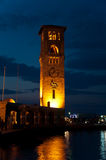 Night view of Rhodes town Stock Photos