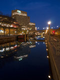 Night view Rideau Canal Ottawa Ontario Canada Stock Images
