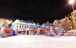 Night view at Riga, Latvia in Christmas time Stock Image