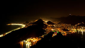 Night View of Rio de Janeiro Royalty Free Stock Photography