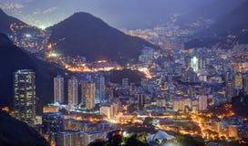 Night view of Rio de Janeiro. Rio de Janeiro in night, view to Bota Fogo part of Rio Royalty Free Stock Photos