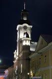 Night view of Roman Catholic Cathedral St. George in Uzhgorod Royalty Free Stock Photos