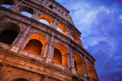 Night view of Roman Coliseum. Stock Image