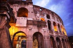 Night view of Roman Coliseum. Stock Photos