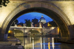 Night view of Rome Stock Photography