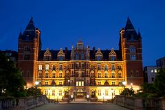 Night view of Royal college of Music London Stock Images