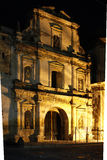Night view of the ruins of the San Agostin Church in Antigua, Guatemala Royalty Free Stock Photo