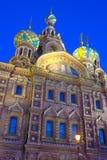 Night view on Russia Orthodox Church Spas na Krovi, St. Petersburg Stock Photo