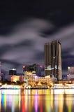 Night view of Saigon City, Vietnam Stock Photos