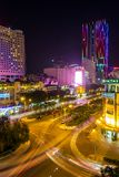 Night view of Saigon traffic, Ho Chi Minh City Stock Photo