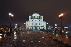 Night view on Saint Basils Cathedral in Moscow, Ru. Night view on Saint Basils Cathedral (a.k.a. Cathedral of the Protection of Most Holy Theotokos on the Moat Stock Photography