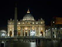 Saint Peter basilica at night Stock Photography