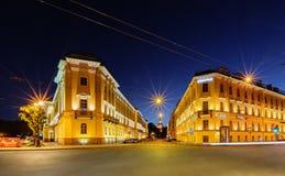Night view of Saint Petersburg Stock Photos