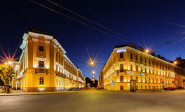 Night view of Saint Petersburg Royalty Free Stock Photography