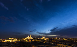 Night view of Salamanca cityscape Royalty Free Stock Photography