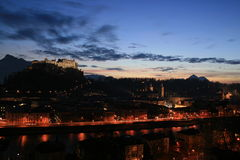 Night view of Salzburg Royalty Free Stock Photography