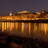 Night view of Salzburg Royalty Free Stock Images