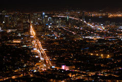Night view of San Francisco Stock Photo