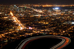 Night view of San Francisco Royalty Free Stock Photo