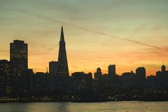 Night view of San Francisco Stock Image