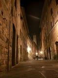 Night view of san gimignano tuscany italy Royalty Free Stock Photos