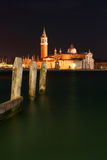 Night view of San Giorgio Maggiore Royalty Free Stock Image
