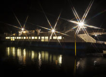 Night view of Sandbanks Ferry in Dorset Royalty Free Stock Image