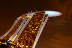 Marina sands hotel skyline at night. Night view of sands hotel singapore Stock Photo