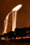 Night skyline of sands hotel. Night view of sands hotel singapore Stock Photography