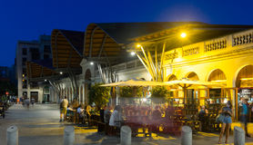 Night view of Santa Caterina market in Barcelona Stock Photos