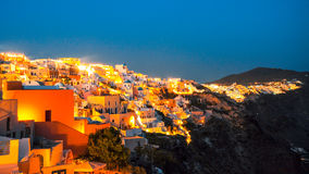 Night view of Santorini Royalty Free Stock Image
