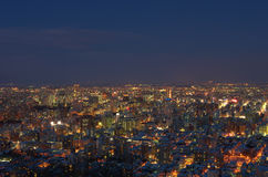 Night view of Sapporo Royalty Free Stock Image