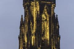 Night view of Scott Monument in princes street, Edinburgh Royalty Free Stock Image