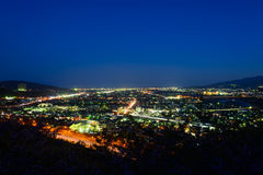 Night view at Seisho region, Kanagawa, Japan Royalty Free Stock Photos