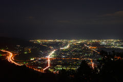 Night view at Seisho region, Kanagawa, Japan Royalty Free Stock Images