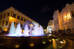 Night View of Senado Square, Macao,China Stock Image