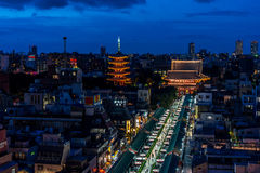Night view of Senjoji Temple Royalty Free Stock Photography
