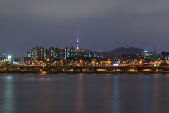 Night view of Seoul city20 Stock Photography