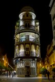 Night view of seville Royalty Free Stock Images