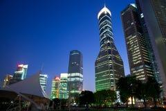 Night view of shanghai stock photos