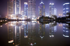 Night view of shanghai royalty free stock photography