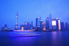 Night view of shanghai Royalty Free Stock Photos