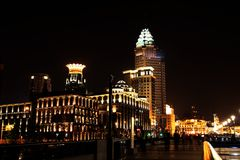 Night view in shanghai Royalty Free Stock Photos
