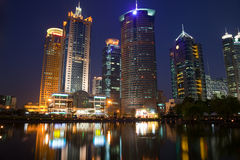 Night view of shanghai Stock Photo
